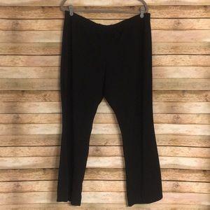 Size XLP Susan Graver Black Knit Pull On Pants